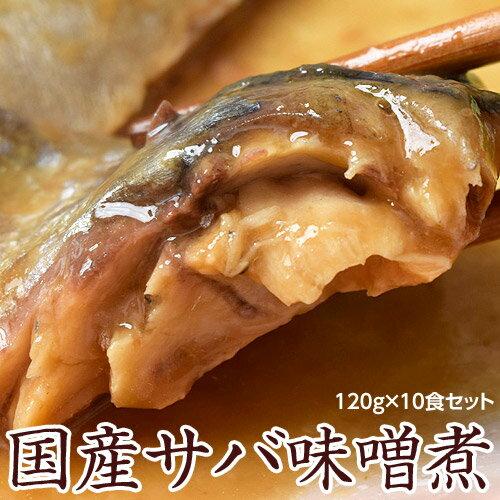 サバ味噌煮 国産 業務用 120g×10食セット 大容量1.2kg 温めるだけ さば 鯖 送料無料 冷凍 同梱可能
