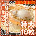 【送料無料】ホタテ ほたて 特大 片貝ほたて 10枚入り 1...