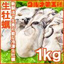 生牡蠣 1kg 生食用 カキ 冷凍時1kg 解凍後850g