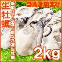送料無料 生牡蠣 2kg 生食用カキ Lサイズ 冷凍時1kg...