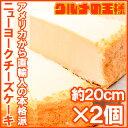送料無料 ニューヨークチーズケーキ プレーン ホール×2個 1ホール910g 14カット 直径約20...
