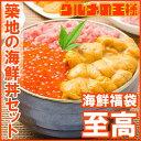 【送料無料】築地の海鮮丼セット 至高 約2杯分 王様のネギト...
