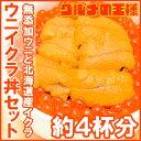 築地市場のウニイクラ丼セット 4杯分 無添加生ウニ200g&...
