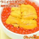 築地市場 豊洲市場のウニイクラ丼セット 2杯分 無添加生ウニ...