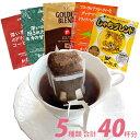 ドリップコーヒー コーヒー 40袋セット 5種類 笑顔の福袋(甘い8 深8 グァテ8 鯱8 G8 各8袋) 珈琲 送料無料 加藤珈琲