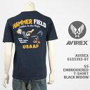 ショッピング刺繍 Avirex アビレックス 刺繍 Tシャツ AVIREX SS EMBROIDERED T-SHIRT HAMMER FIELD 6103392-87【国内正規品/アヴィレックス/半袖/ミリタリー】