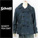 【国内正規品】Schott ショット ピーコート デニム Schott DENIM PEA COAT 3162024-88 【ミリタリー・送料無料】