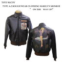 "TOYS McCOY (トイズマッコイ)""ON THE WAY UP!""TYPE A-2 ROUGH WEAR CLOTHING MARILYN MONROETMJ1516「P」フライトジャケット ミリタリ.."