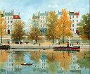 ミッシェル・ドラクロア「カヌティエ」-Le Canotier(The Boater)-直筆サイン入り限定版画 リトグラフ選べる新品額付 国内 送料無料