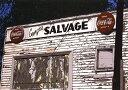 鈴木英人「GEORGIA'S SALVAGE」1985年 リトグラフ 額付版画作品国内 送料無料