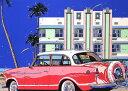 鈴木英人「HOTEL CARLILE」1988年 リトグラフ 額付版画作品国内 送料無料