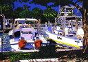 鈴木英人「FAN STEP」(ノーマルエディション)1991年 リトグラフ 額付版画作品国内 送料無料