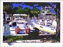 鈴木英人「FAN STEP」(スペシャルエディション)1991年 リトグラフ 額付版画作品国内 送料無料