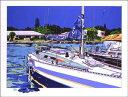 鈴木英人「WONDERFUL VIEW OF CANAL」(スペシャルエディション)1991年 リトグラフ 額付版画作品国内 送料無料