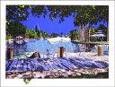 鈴木英人「THE BOAT IN THE SUN」(スペシャルエディション)1991年 リトグラフ 額付版画作品国内 送料無料