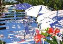 鈴木英人「汐風のささやくデッキ」(ノーマルエディション) -THE DECK WHISPERED BY SEA BREEZE-1992年 リトグラフ 額付版画作品国内 送料無料