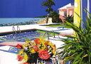 鈴木英人「バミューダ島の午後のひととき」(ノーマルエディション) -AFTERNOON BREAK AT BERMUDA-1992年 リトグラフ 額付版画作品国内 送料無料