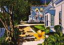 鈴木英人「海からの帰り道」(ノーマルエディション) -WAY HOME FROM THE BEACH-1992年 リトグラフ 額付版画作品国内 送料無料