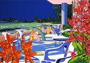 鈴木英人「待ちわびていた海からの風」(ノーマルエディション) -EXPECTED WIND FROM THE SEA-1992年 シルクスクリーン 額付版画作品国内 送料無料