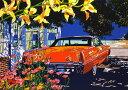 鈴木英人「バハマ島での午後の休息」(ノーマルエディション) -RESTING IN THE AFTERNOON AT BAHAMA-1992年 シルクスクリーン 額付版画作品国内 送料無料