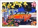 鈴木英人「バハマ島での午後の休息」(スペシャルエディション) -RESTING IN THE AFTERNOON AT BAHAMA(Special Edition)-1992年 シルクスクリーン 額付版画作品国内 送料無料
