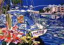 鈴木英人「ヨットと過ごした夏の懐かしき日々」(ノーマルエディション) -GOOD OLD SUMMER DAYS ON THE YACHT-1992年 シルクスクリーン 額付版画作品国内 送料無料