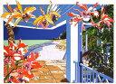 鈴木英人「二人のためのプライベートビーチ」 -A PRIVATE BEACH JUST FOR COUPLE-1992年 リトグラフ 額付版画作品国内 送料無料