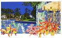 鈴木英人「運河で見つけたスーベニール」 -SOUVENIR FOUND IN CANAL-1992年 リトグラフ 額付版画作品国内 送料無料