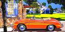 鈴木英人「ポルシェ 356 スピードスター」 -PORSCHE 356 SPEEDSTER-1993年 シルクスクリーン 額付版画作品 国内送料無料