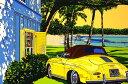 鈴木英人「アイランド クルーズ」 -ISLAND CRUISE-1993年 シルクスクリーン 額付版画作品 国内送料無料