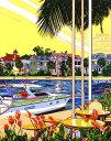 鈴木英人「過ぎゆく日々」-AS THE DAYS GO BY- 1993年 シルクスクリーン 額付版画作品 国内送料無料
