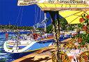 鈴木英人「パラダイス ベイ」-PARADISE BAY- 1993年 シルクスクリーン 額付版画作品 国内送料無料