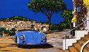 鈴木英人「ロング アンド ワインディング ロード」(モーニングバージョン) -LONG AND WINDING ROAD Morning Version-1994年 シルクスクリーン 額付版画作品 国内送料無料