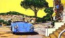 鈴木英人「ロング アンド ワインディング ロード」(トワイライトバージョン) -LONG AND WINDING ROAD Twilight Version-1994年 シルクスクリーン 額付版画作品 国内送料無料