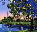 鈴木英人「水辺の印象」 -WATERSIDE IMPRESSION-1994年 リトグラフ 額付版画作品 国内送料無料