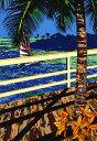 鈴木英人「二人のウォーターフロント」 -WATERFRONT FOR TWO-1994年 シルクスクリーン 額付版画作品 国内送料無料