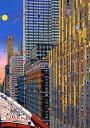 鈴木英人「マンハッタン ランデブー」 -MANHATTAN RENDEZVOUS-1995年 シルクスクリーン 額付版画作品 国内送料無料