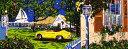 鈴木英人「スターライトクルーズ」 -STARLIGHT CLUISE-1995年 シルクスクリーン 額付版画作品 国内送料無料