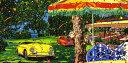 鈴木英人「スターライト ガーデン」-STARLIGHT GARDEN- 1995年 シルクスクリーン 額付版画作品 国内送料無料