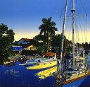 鈴木英人「フロリダ人生」-FLORIDA JINSEI- 2001年 シルクスクリーン 額付版画作品 国内送料無料