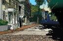 鈴木英人「島のやすらぎ」-ISLAND COMFORT- 2001年 EMグラフ 額付版画作品 国内送料無料