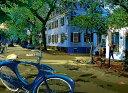鈴木英人「緑の楽園」-ISLAND PROMENADE- 2001年 EMグラフ 額付版画作品 国内送料無料
