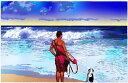 鈴木英人「サンディー ビーチのライフガード」-LIFEGUARDS ON DUTY- 2005年 EMグラフ 額付版画作品 国内 送料無料