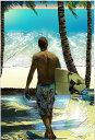 鈴木英人「ヨコハマベイとサーファー」 -YOKOHAMA BAY SURFER-2005年 EMグラフ 額付版画作品 国内 送料無料