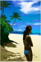 鈴木英人「ノースショアの夏」-NORTH SHORE SUMMER- 2005年 EMグラフ 額付版画作品 国内 送料無料