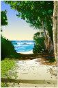 鈴木英人「波へのいざない」-THE BECKONING SURF- 2005年 EMグラフ 額付版画作品 国内 送料無料