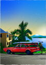 鈴木英人「富士とサーファー」-FUJI & SURFER- 2006年 EMグラフ 額付版画作品 国内 送料無料