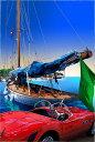 鈴木英人「地中海の友人」-RIVIERA FOREVER - 2008年 EMグラフ 額付版画作品 国内 送料無料