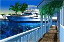 鈴木英人「碧き運河」-BLUE LAGOON- 2008年 EMグラフ 額付版画作品 国内 送料無料