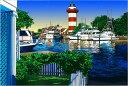 鈴木英人「ライトハウスの美しい眺め」-LIGHT HOUSE VIEW- 2008年 EMグラフ 額付版画作品 国内 送料無料